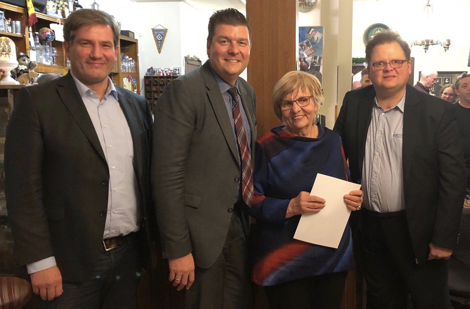 SPD -Metin Hakverdi Dr. Andreas Dressel Elke Schlobohm und  Matthias Czech (v.l.)