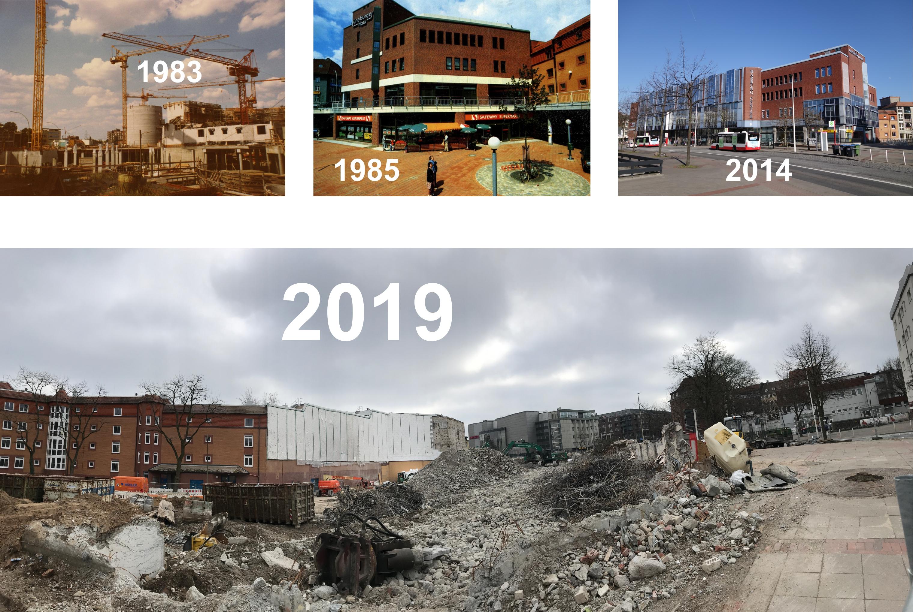 Jörn Hansen -Von Bau bis Abriss des Harburg Centers ± heute Harburgs prominenteste Baustelle.