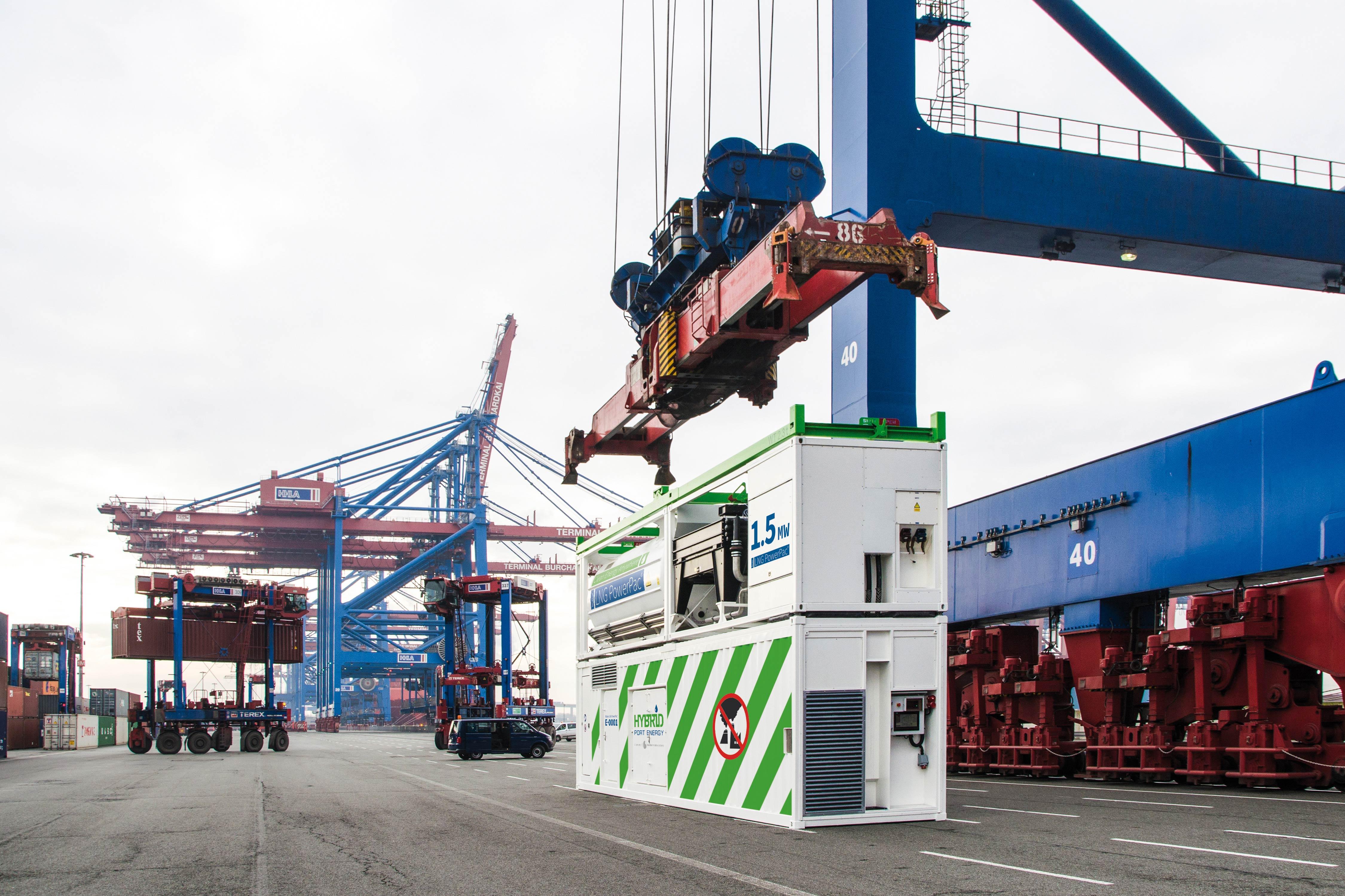Becker Marine Systems -Der Becker LNG PowerPac® am Container-Terminal Burchardkai (CTB) der HHLA in Hamburg
