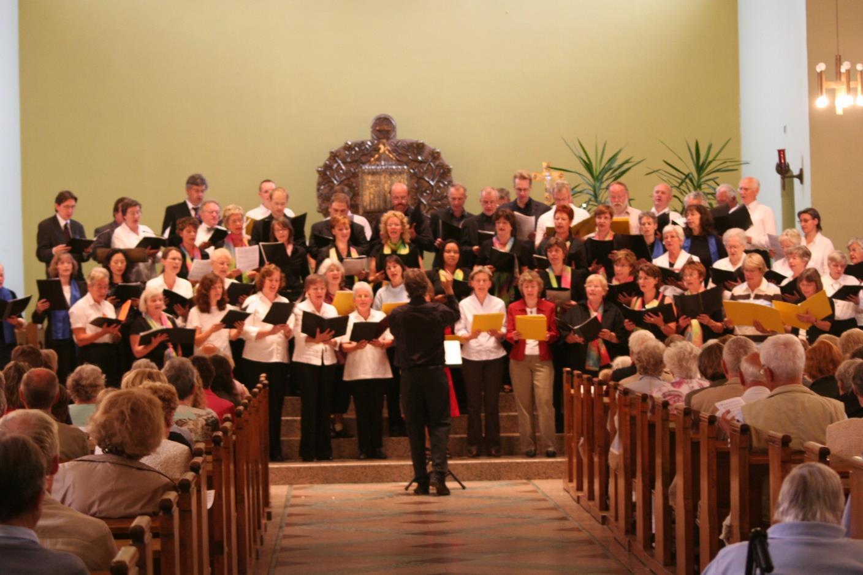 priv. -Der Chor bei einem seiner zahlreichen Auftritte