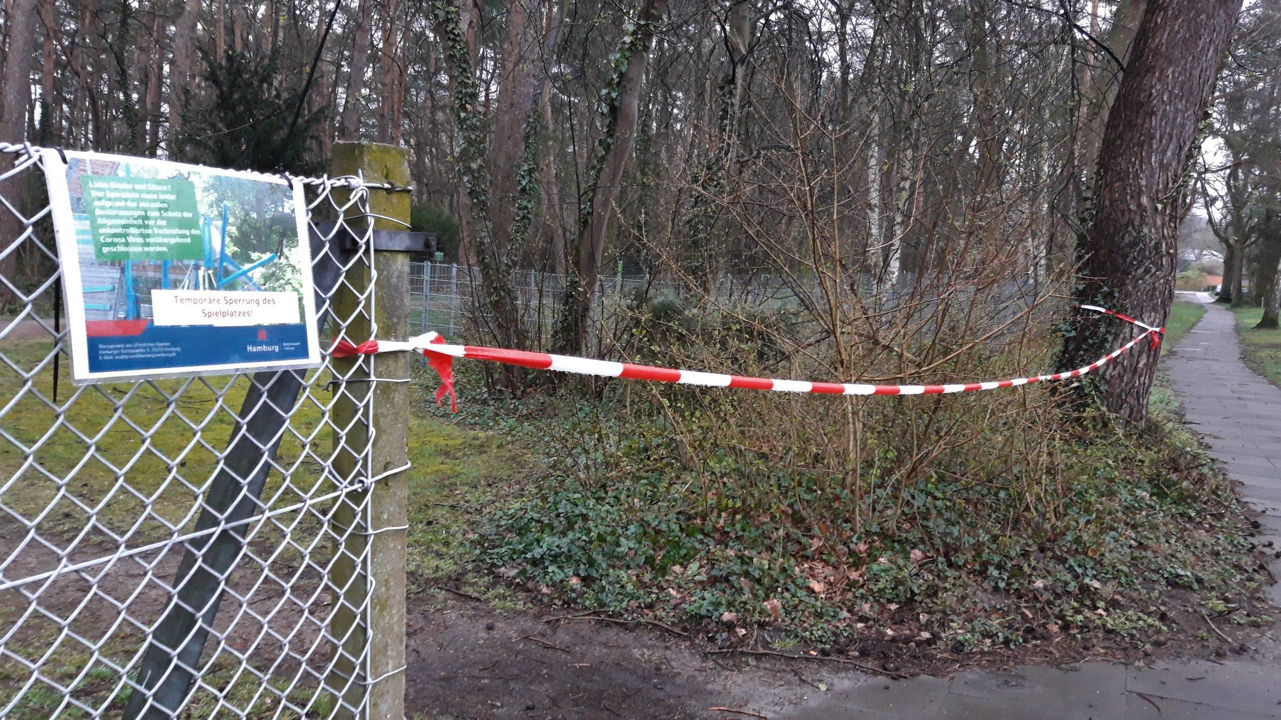 W. Marsand -Die Spielplätze im Bereich  der Mehrgenerationenfläche sind gesperrt